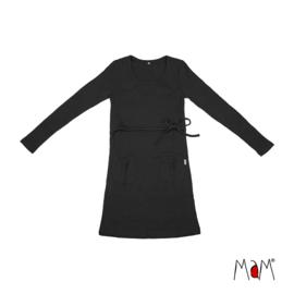 Manymonths MaM - Tunic / korte jurk in merinowol - Panther Black in Small/Medium = Laatste!
