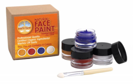 Natural Face Paint - 4 kleuren schmink en 1 applicator