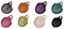 Bo Weevil - Boodschappentas van biokatoen, kort hengsel - Verschillende kleuren naar keuze