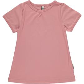 Maxomorra - T-shirt Short Sleeve  A-Line - Dusty Pink