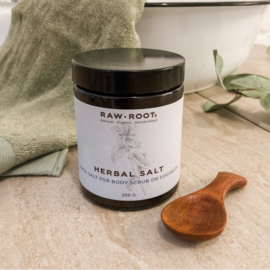 RAW ROOTs - Herbal Salt - Scrub / Bad / Voet zout - 200 gram