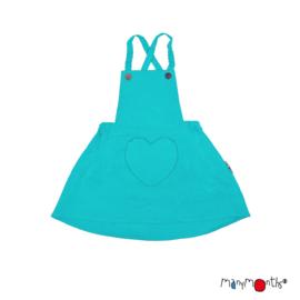 ManyMonths - Eco Hempies Heart Pocket Dress/Skirt, Rok en jurk in één, Meegroei maat - Turquoise Lake