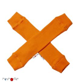 Manymonths - Arm en beenwarmers in merinowol - Festive Orange