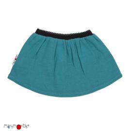 Manymonths - Princess skirt Rok in merinowol - Royal Turquoise