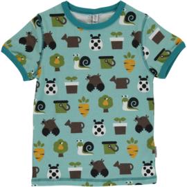 Maxomorra - T⁻shirt Short Sleeve - Garden