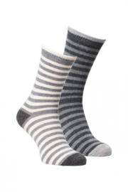 Fellhof - Alpaka sokken Gestreept - per 2 paar