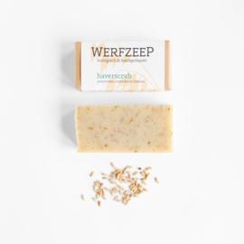Werfzeep - Haverscrub scrubzeep met jeneverbes, lavendel en limoen - 100 gr