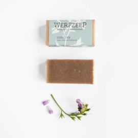 Werfzeep - Comfreyzeep met smeerwortel, munt, anijs en rozemarijn - 100 gr