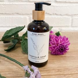 RAW ROOTs - Bio Castille zeep met lavendel en rozemarijn - 250 ml