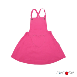 ManyMonths - Eco Hempies Heart Pocket Dress/Skirt, Rok en jurk in één, Meegroei maat - Berry
