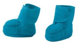Disana - Booties in gekookte wol - Blauw