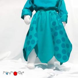 ManyMonths - Eco Hempies Bellflower Skirt, Rok in meegroei maat - Big Dot Turquoise