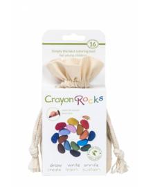 Crayon Rocks - Krijtjes in een ecru katoenen zakje - 16 stuks