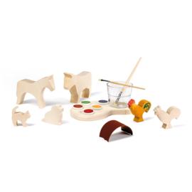 Ostheimer - Creatieve set met verf en blanco figuren - 80249