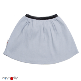 Manymonths - Princess skirt Rok in merinowol - Bright Silver