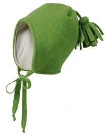 Disana - Muts in gekookte wol - Groen - maat 42-46 = Laatste stuk