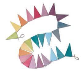 Grimm's - Houten vlaggenlijn, pastel kleuren - 70246