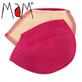 MaM - Zoogcompressen / borstwarmers in bamboe en wol, met verwijderbare insert , Roze, Cup A-C