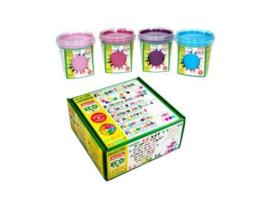Oekonorm - Vingerverf -roze, lichtpaars, donkerpaars, lichtblauw - 4 stuks in totaal