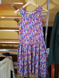 Duns - Women Mouwloze jurk met zwierrokje - Small flower - XS