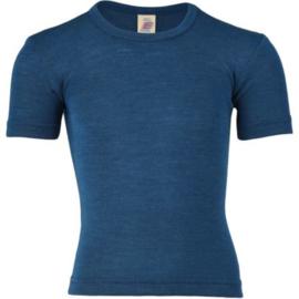 Engel Natur - T-shirt merino wol zijde - Oceaan blauw - Laatste stuk in deze kleur - 128