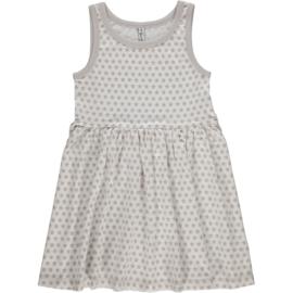 Maxomorra - Mouwloze jurk met zwierrokje - Stars Grey, maat 74/80, 86/92, 98/104, 110/116, 122/128, 134/140