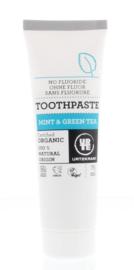 Urtekram - Tandpasta - Munt en Groene Thee, geen fluor - 75 ml