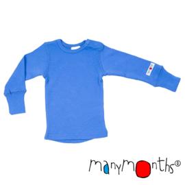 Manymonths - Longsleeve in merinowol - Provence Blue