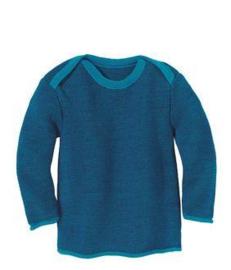 Disana - Gebreide melange trui - Blauw Marine melange