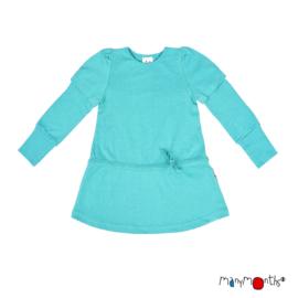 ManyMonths - Eco Hempies Long/Short Sleeve Strap Tunic, Tunic met afneembare mouwen. Meegroei maat - Turquoise