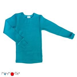 Manymonths - Longsleeve merinowol - Royal Turquoise
