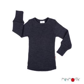 Manymonths - Longsleeve merinowol - Foggy Black