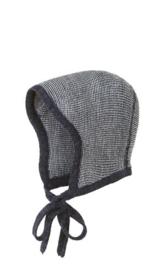 Disana - Bonnet muts in gebreide wol - Anthraciet Grijs melange