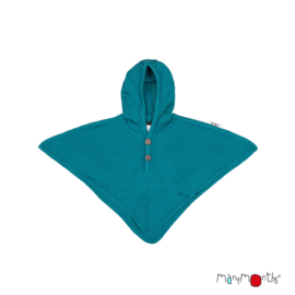 Manymonths - Hooded Altair Multi Cape, meegroei maat - Royal Turquoise