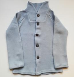 Manymonths - Unique Cardigan in merinowol, met aanpasbare mouwen, meegroei maat  - Bright Silver