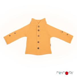 Manymonths - Unique Cardigan in merinowol, met aanpasbare mouwen, meegroei maat  - Golden Oat