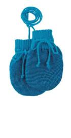Disana - Baby wanten in gebreide wol  - Blauw / Marine melange