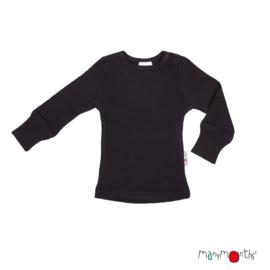 Manymonths - Longsleeve merinowol - Panther Black