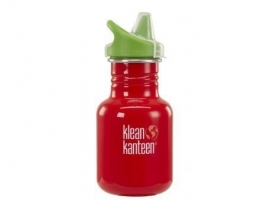Kid Kanteen - Kid Sippy fles in RVS met drinktuit - Rood