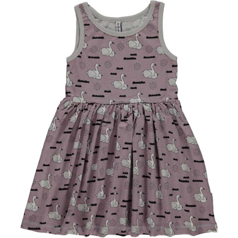 Maxomorra - Mouwloze jurk met zwierrokje - Swan baby pond