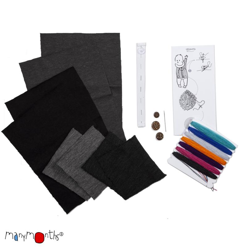 ManyMonths Natural Woollies Shirt Long Sleeve foggy black