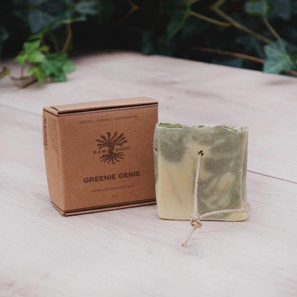 RAW ROOTs - Greenie Genie Soap Bar - Handgemaakte zeep voor haar en lichaam. Geschikt voor dreadlocks - 115 gr