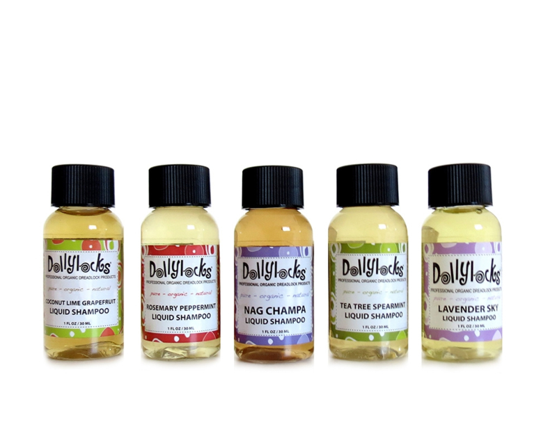 Dollylocks - Shampoo - Verschillende geuren, sampler / travel size - 30 ml