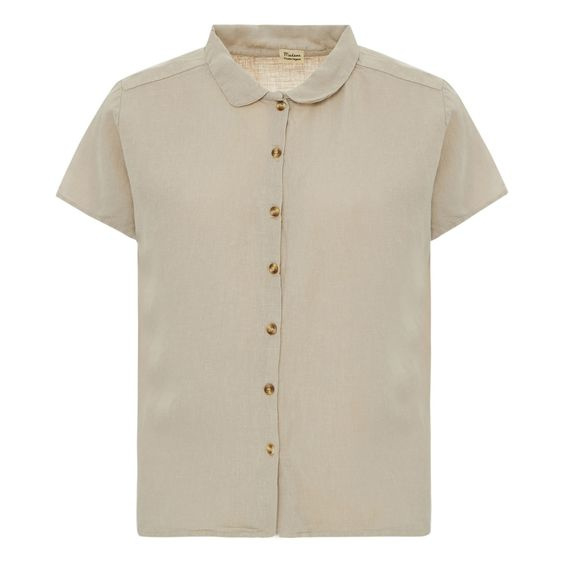 Poudre Organic - Blouse Lotus in linnen - Natural in Small of Medium
