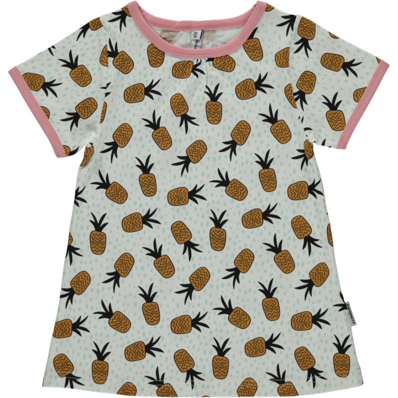Maxomorra - T⁻shirt A Line - Pineapple Spots in 110/116