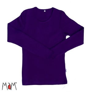 Manymonths MaM - Longsleeve shirt / trui in merinowol - Majestic Plum - M