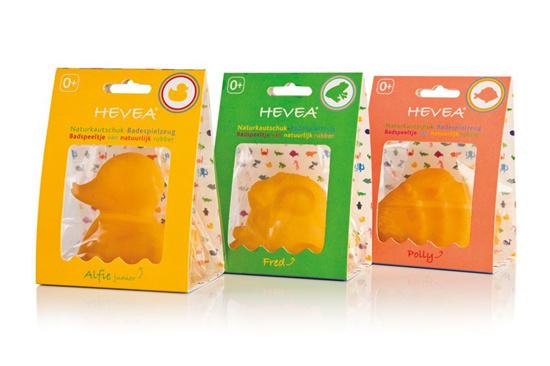 Hevea - Badspeeltje natuurrubber - Naar keuze: eend, grote eend, kikker of visje