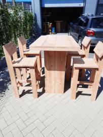 Sta tafel 80x120 met kruk met rugleuning