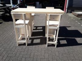Sta tafel 80x180 met kruk met rugleuning
