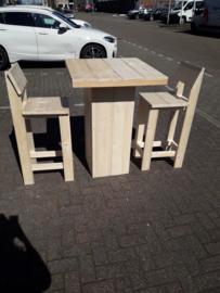 Sta tafel 80x80 met kruk met rugleuning
